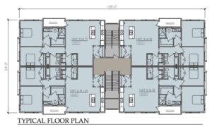 East Village Apartments Floor Plan Studio 21 Architects