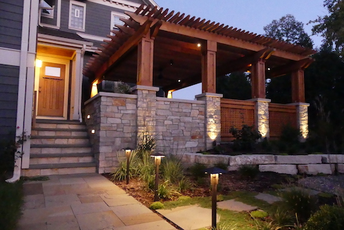 ... Space Beyond The Conventional Walls. This Combination Of Design,  Natural Materials, And Lighting Make A Once Unused Patio Space A Delightful  Space For ...